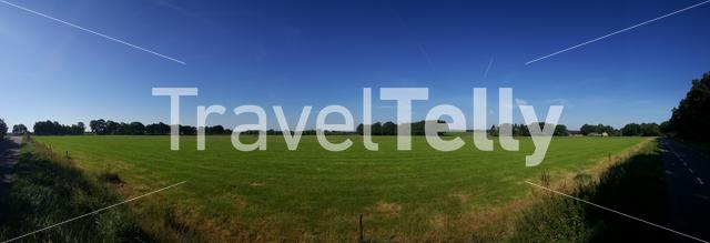 Panorama from farmland around Luttenberg Overijssel The Netherlands