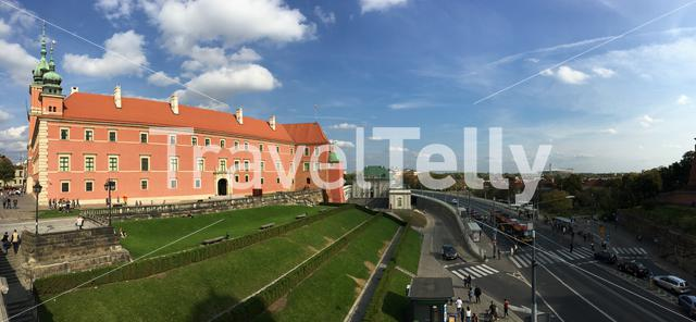 Panorama from the Royal Castle in Warsaw Poland
