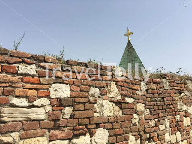 The Ružica church roof at the Kalemegdan Fortress in Belgrade Serbia