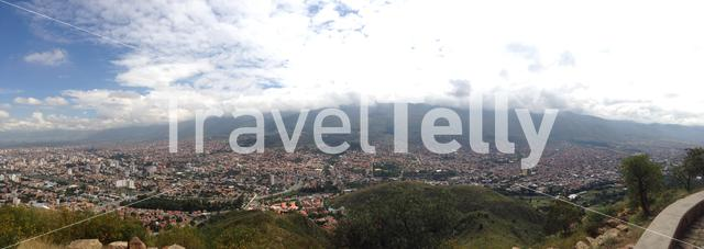 Panorama view from the San Pedro Hill in Cochabamba, Bolivia.