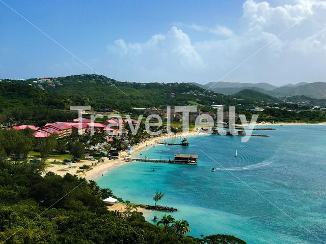 Rodney Bay is a bay on Saint Lucia island in the Caribbean