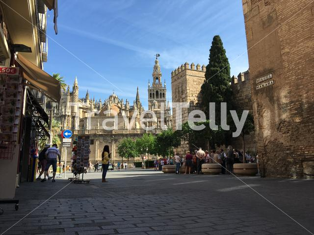 The Seville Cathedral with the La Giralda (Bell tower) in Spain