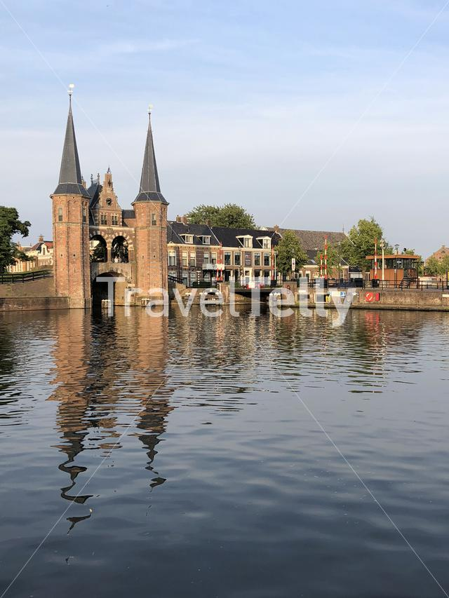 The waterpoort in Sneek, Friesland The Netherlands