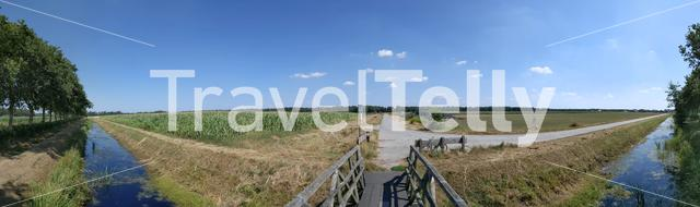 Panoramic landscape in Drenthe The Netherlands