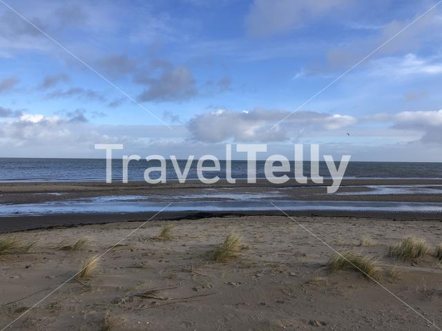 The coast around Texel in The Netherlands