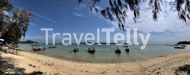 Panorama from Fishing boats in Phuket Thailand