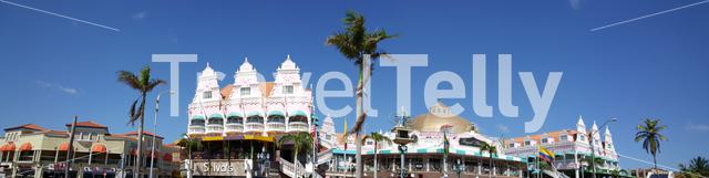 Panorama from the Royal Plaza Mall in Oranjestad on Aruba