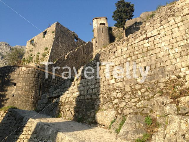 The fortifications of Kotor in Montenegro