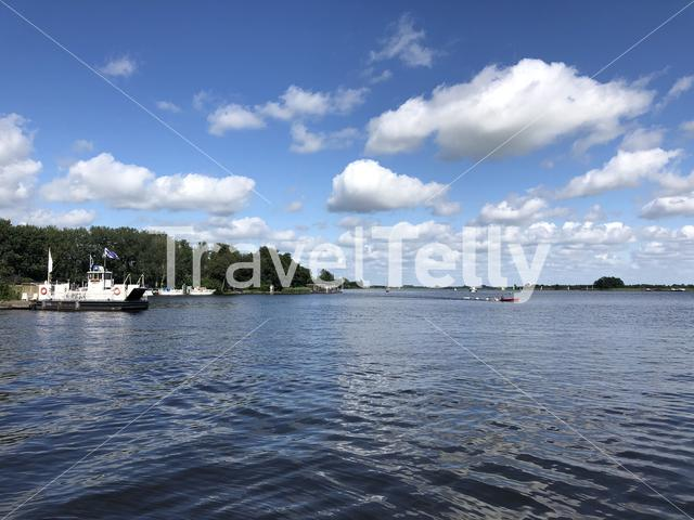 Lake around the Veenhoop in Friesland The Netherlands