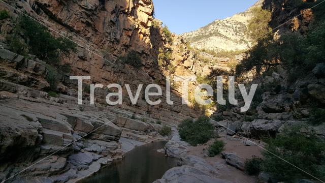 Canyon at Paradise Valley in Morocco, Africa