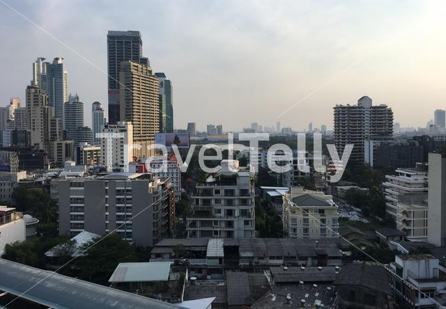 Cityscape in Bangkok seen from Terminal 21