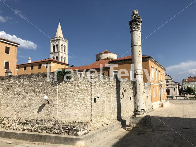 The Roman Forum in Zadar Croatia