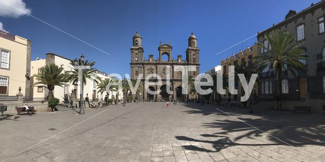 Panorama from the Las Palmas Cathedral in Gran Canaria