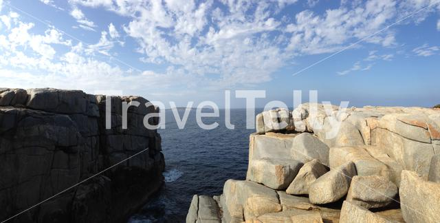 Panorama from the Gap a stone formation in Torndirrup National Park Albany Western Australia