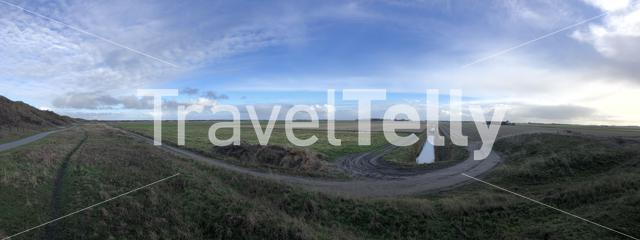 Panorama from Texel island in The Netherlands