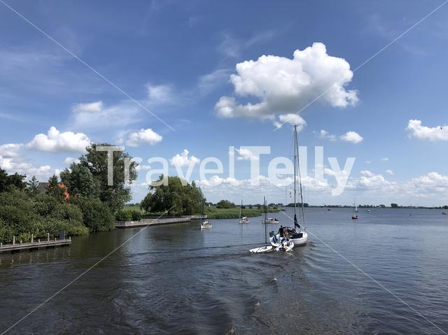 Lake in Friesland The Netherlands