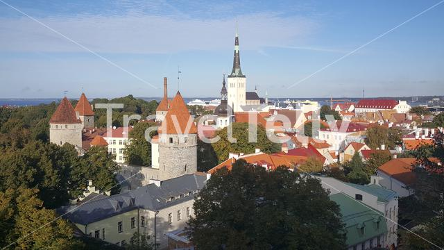 Overview from the old town of Tallinn Estonia