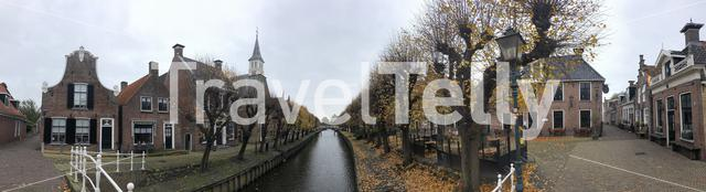 Panorama from Autumn in Sloten, Friesland The Netherlands
