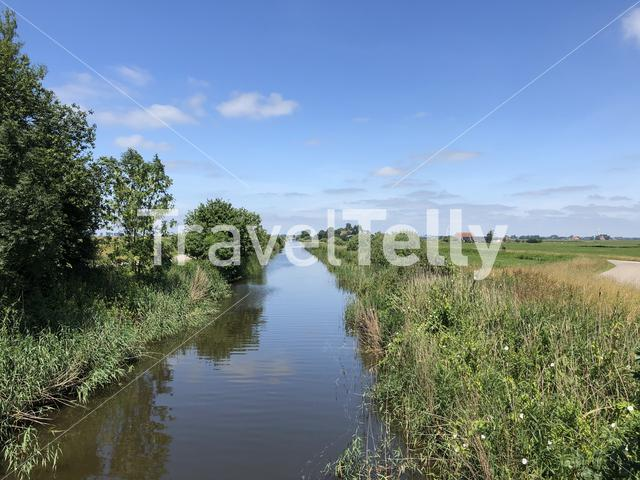 Canal around It Heidenskip in Friesland The Netherlands