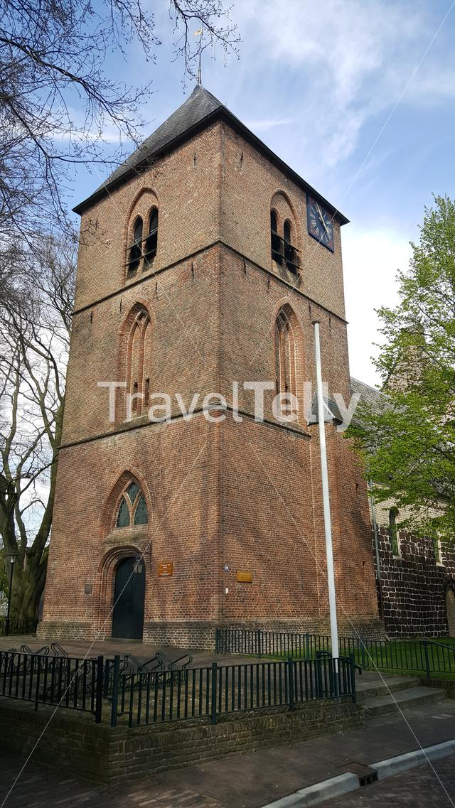 Old protestant church in small town of Hellendoorn, Netherlands