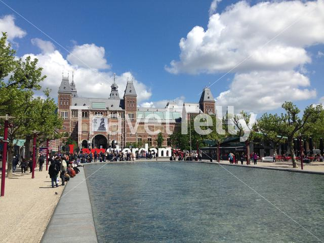 Rijksmuseum in Amsterdam Holland The Netherlands