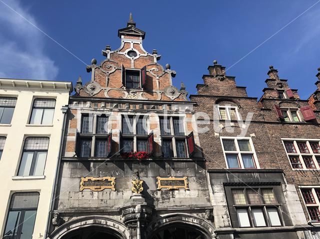Architecture in the old town of Nijmegen, Gelderland The Netherlands
