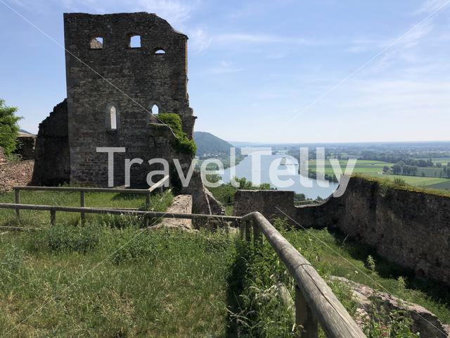 Scenic view from the Donaustauf Castle in Germany