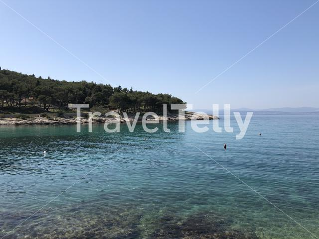 Coast around Sutivan town on Brac island Croatia