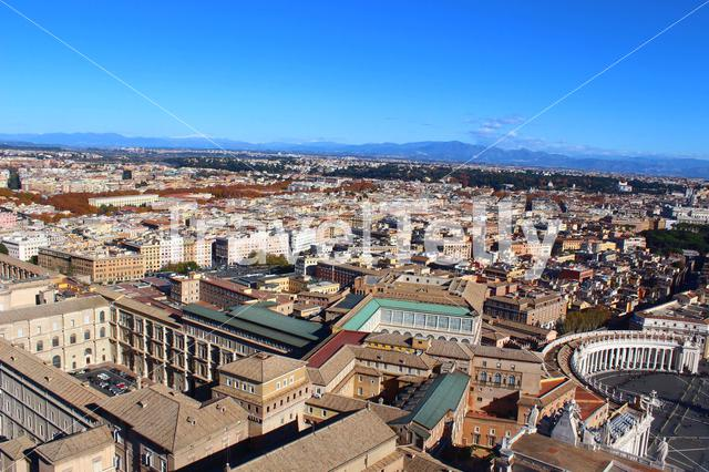 A view above Rome, so pretty!