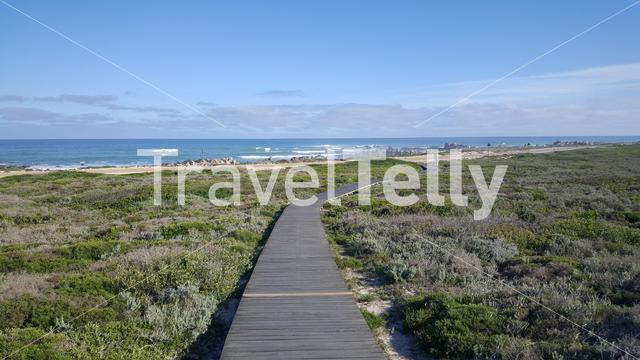 Path towards the coast of Cape Agulhas in South Africa