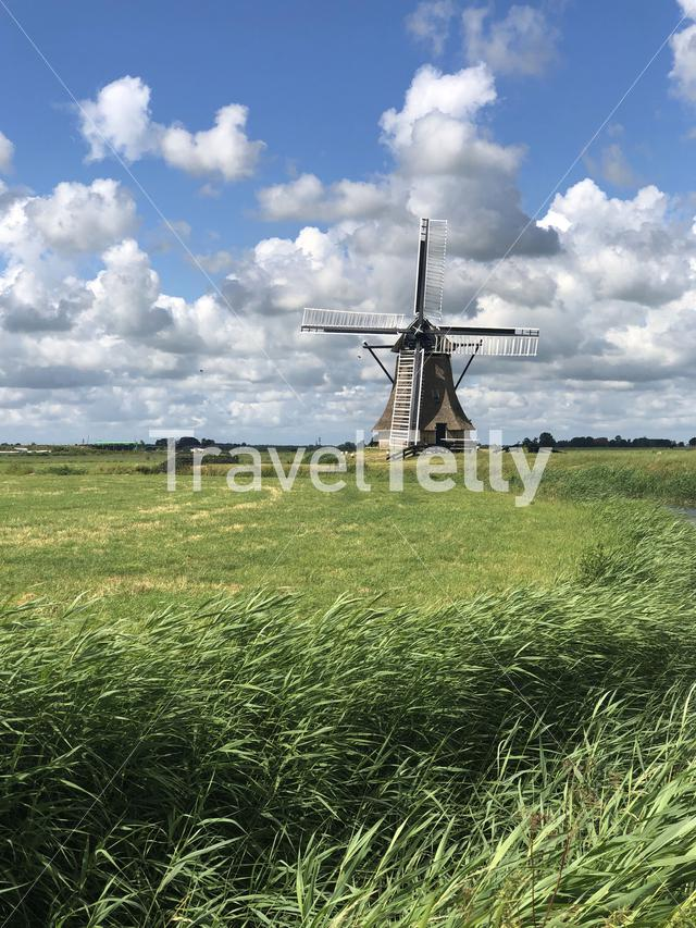 Windmill in Winsum, Friesland The Netherlands