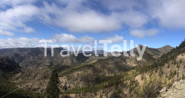 Panoramic scenery on Gran Canaria