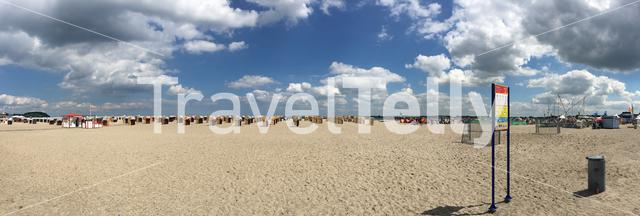 Panorama from Travemünde beach in Germany