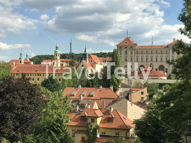 Old town city view in Prague Czech Republic