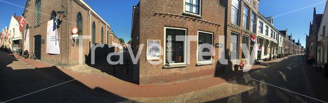 Panorama from the Kerkstraat in Vollenhove The Netherlands