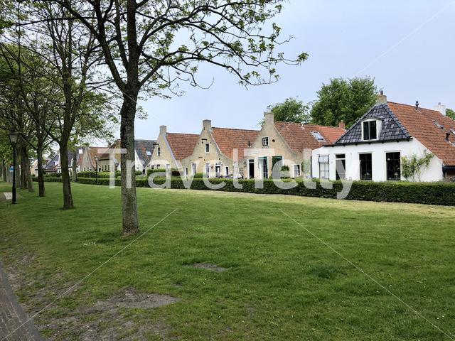 Houses on Schiermonnikoog island in The Netherlands
