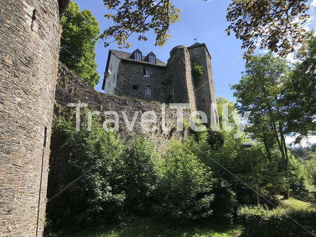 Tower on a hill in Monschau Germany