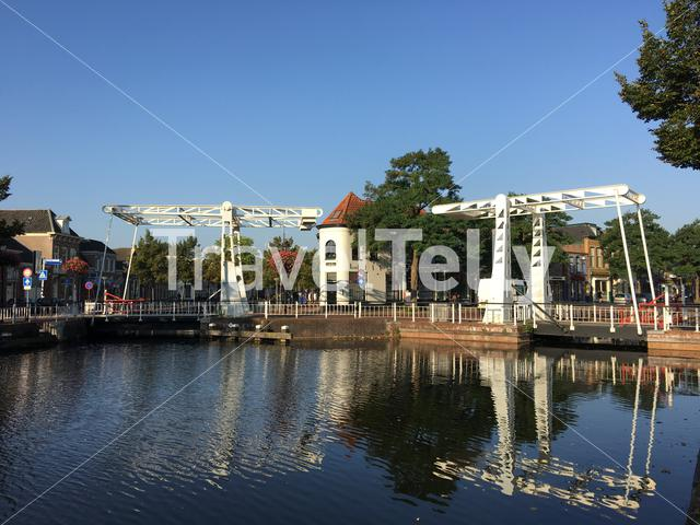 Two bridges at the prinsengracht in Meppel The Netherlands