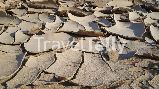 Dry ground in Hoanib riverbed, Namibia