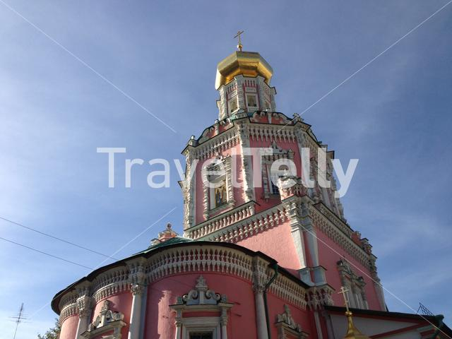 Church of the Epiphany at the former Epiphany Monastery and pink church in Moscow Russia