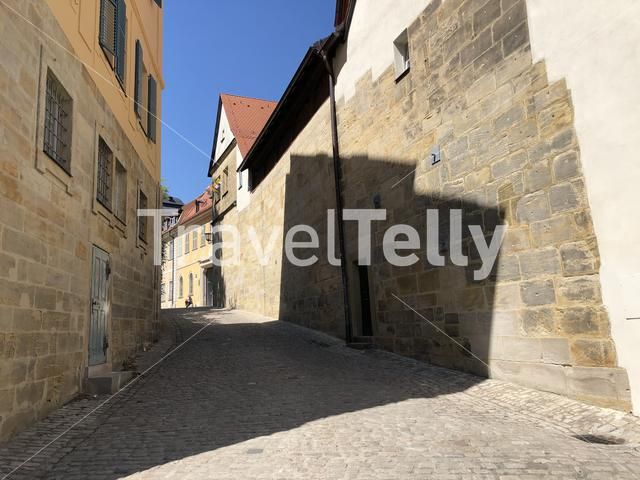 Street in the old town of Bamberg Germany