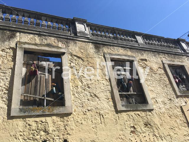 Old windows and architecture in Lisbon portugal