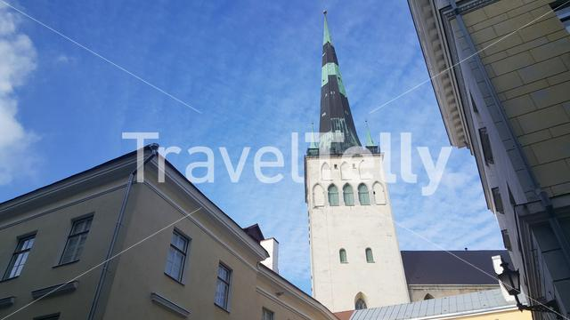 St Olaf's church in the old town of Tallinn, Estonia