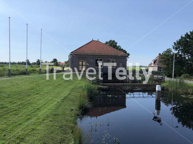 Suder Pumping Station in Nij Beets, Friesland The Netherlands