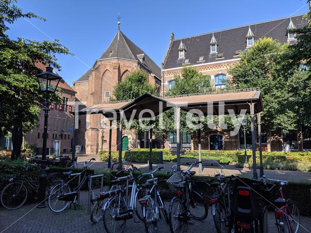 Bicycles in the old town of Zwolle, The Netherlands