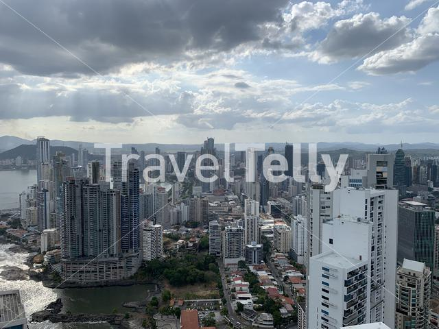 Aerial view from Panama City