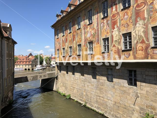 The old town hall in Bamberg Germany