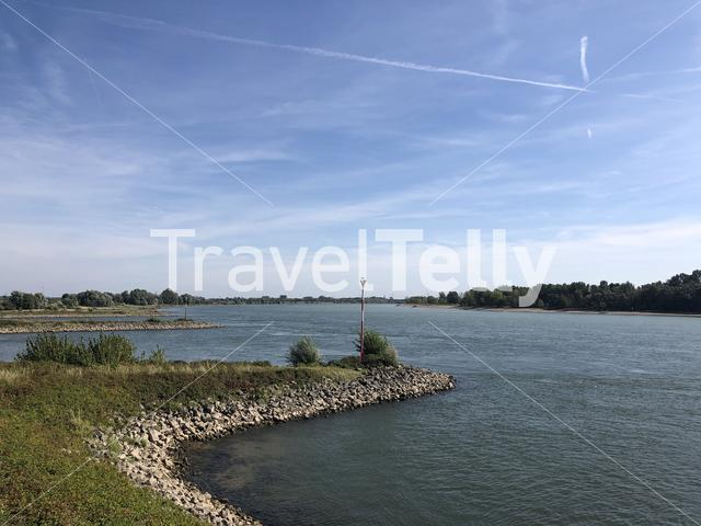 The Rhine river at Rees, Germany