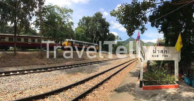 Nam Tok train station in Kanchanaburi Thailand