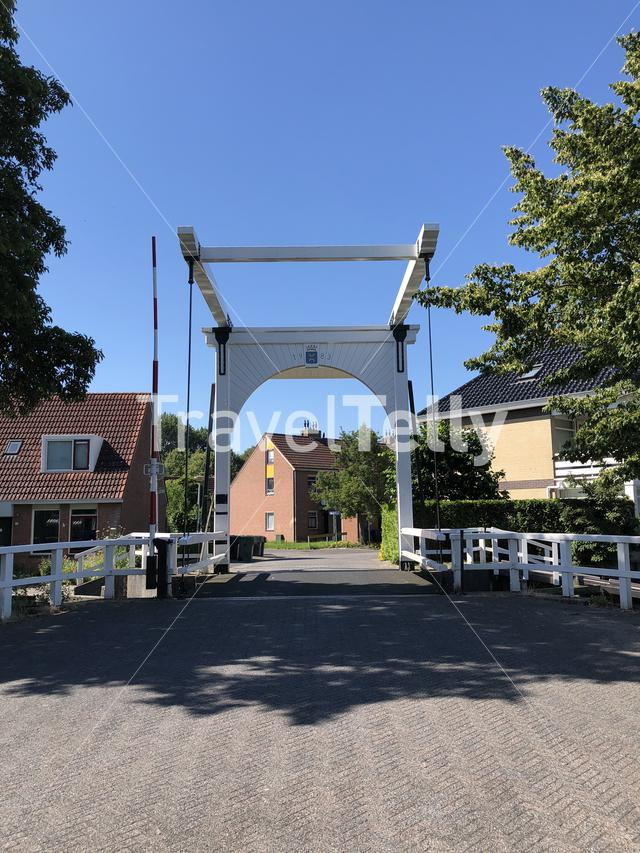 Bridge in Grou, Friesland The Netherlands